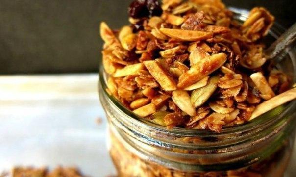 Гранола — полезный завтрак для всей семьи!